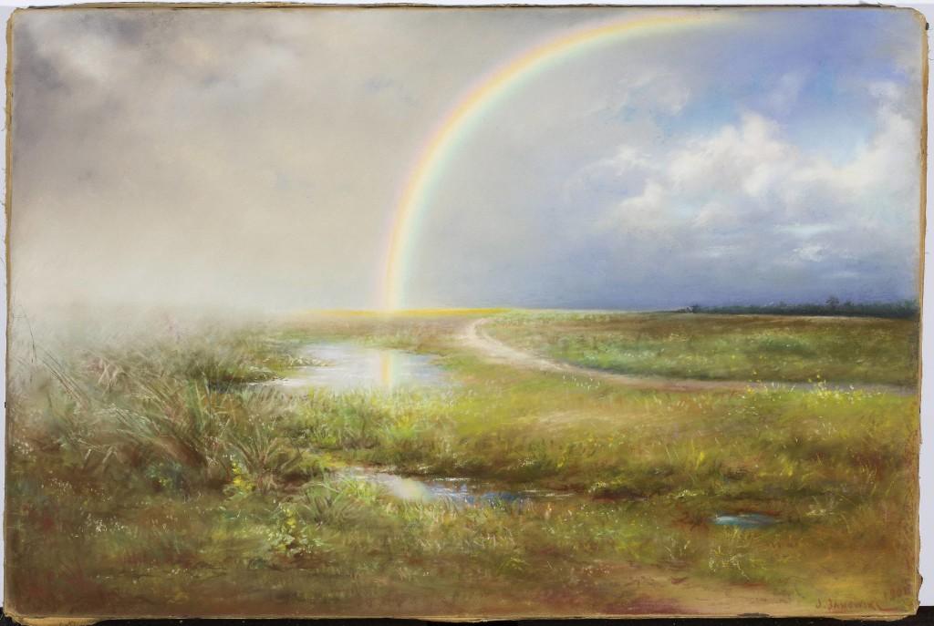 1901, Krajobraz z tęczą, Józef Janowski
