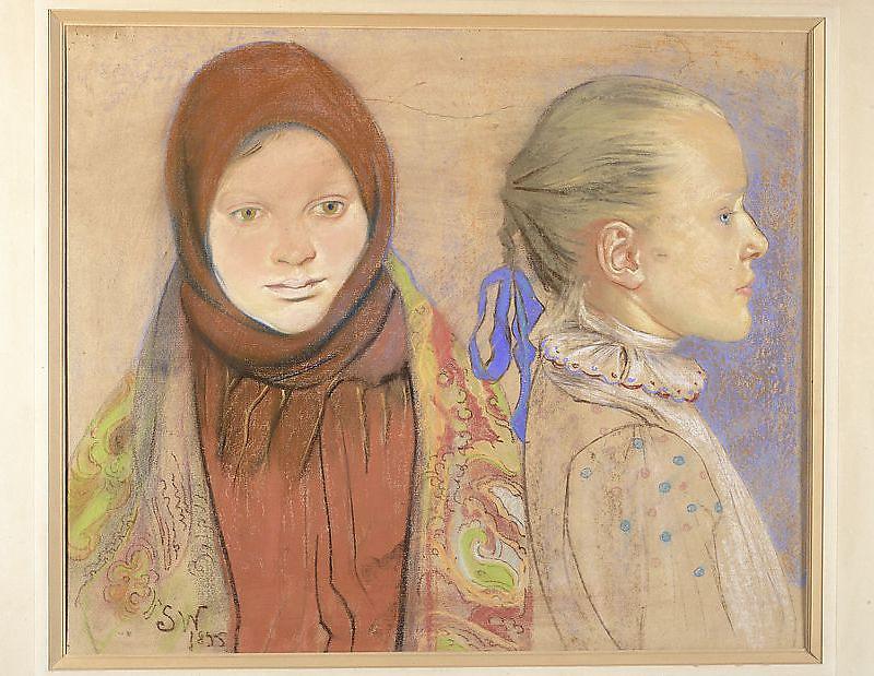 Portret dwóch dziewczynek, Wyspiański, 1895
