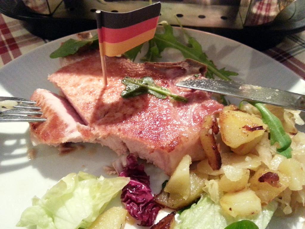 Niemiecka kuchnia w czystej postaci. Mniam.