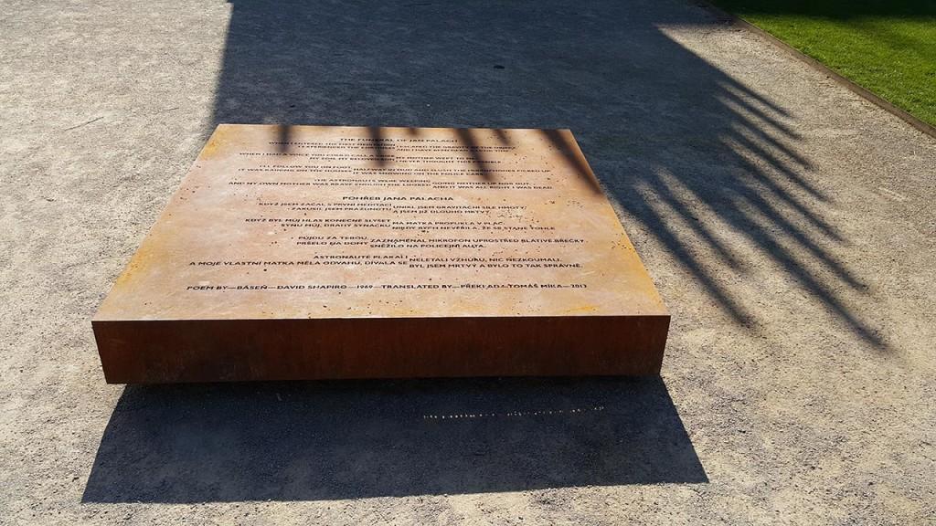 Fragment pomnika Jana Palacha