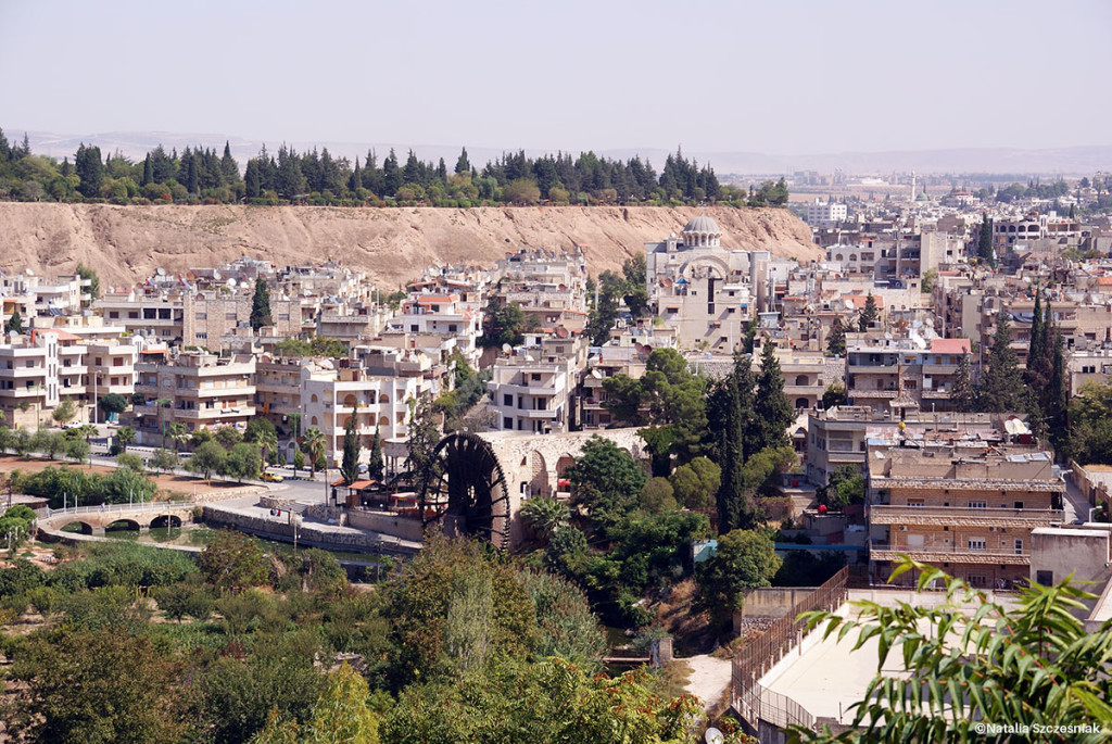 Widok na biblijne miasto Hama.