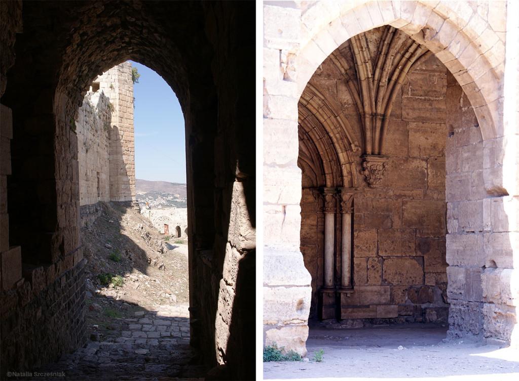 Syria czy Europa? Bez podpisu trudno odgadnąć, że to gotyckie łuki w zamku Krak des Chevaliers w Syrii.