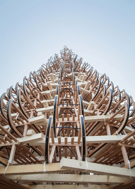 Christmas-tree-made-of-365-sledges-by-Hello-Wood_dezeen_3